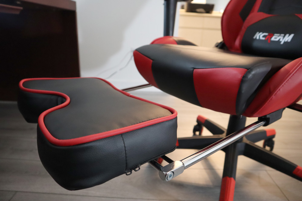 Kcream gaming chair with footrest