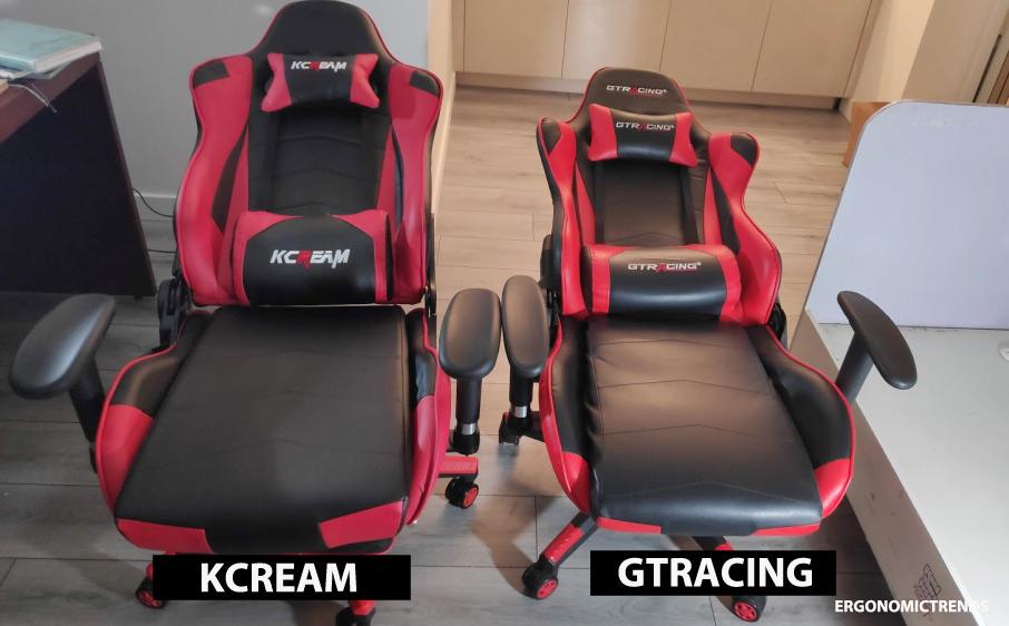 KCream gaming chair backrest recline
