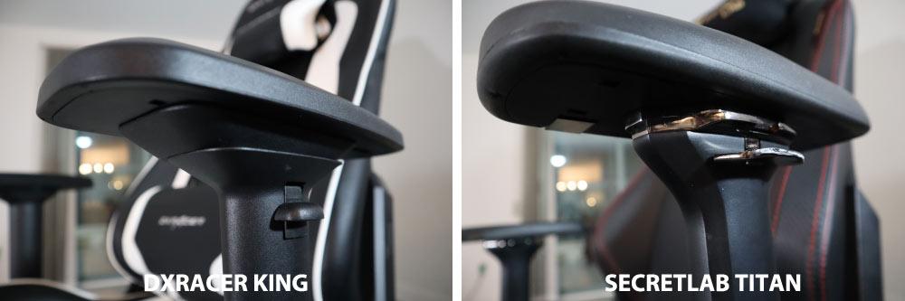 DXRacer vs Secretlab armrests