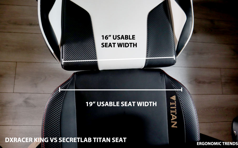 DXRacer vs Secretlab seat size