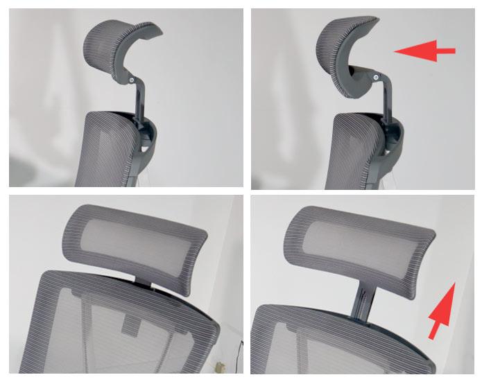 Autonomous ErgoChair 2 Headrest  Adjustments