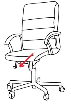 Forward Tilting Study Chairs