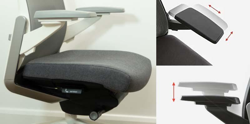 Sidiz T80 armrest adjustment