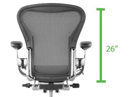Mid Back office chair ideal backrest Height