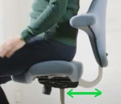 HAG Capisco adjustable seat depth